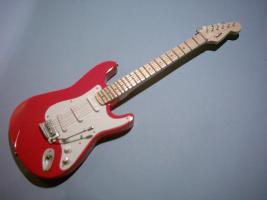 Miniaturgitarre – Eric Clapton - Red Fender Stratocaster