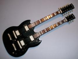 Miniaturgitarre – Gibson SG Doubleneck