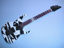 Miniaturgitarre – John Petrucci - Black White Ibanez