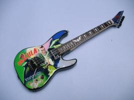 Miniaturgitarre – Kirk Hammett Metallica 'Dracula' Art Style