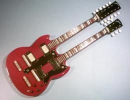 Miniaturgitarre – 'Led Zeppelin' Jimmy page Doubleneck