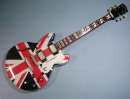 Miniaturgitarre – 'Oasis' Noel Gallagher Union Jack Epiphone
