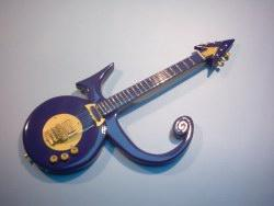 Miniaturgitarre – 'Prince' - Symbol Purple Guitar