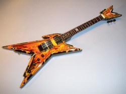 Miniaturgitarre - Dean Dimebag Explosion Razorback