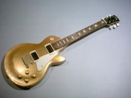 Miniaturgitarre - Gibson Les Paul Gold-White