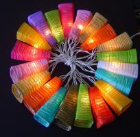 Mixed Colours Paper 20 Lanterns Fairy Light String