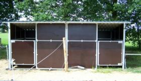 Mobil zerlegbare Pferde Außenboxen 6x3m ab 2.599, - €