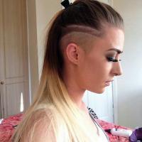 lange Haare mit kurzem Undercut