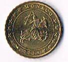 Monaco Original 10 Euro Cent Kursmünze '' 2002 '' ! !