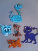 Monster High 5 Haustiere für Wand oder Schränke