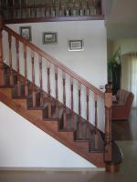 Foto 3 Montage, Treppe, Holztreppe, Massivholztreppe, Innentreppe, Treppe aus Polen , Polnische Treppe, Treppenhaus, Treppe aus Holz