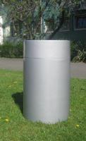 Foto 2 Müllbehälter, Kunststoff, Edelstahl