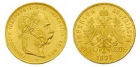 Foto 2 Münzen mit Adler der albanischen Flagge - Albanien