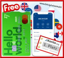 Multi-Währungs-Konto mit Mastercard ohne Bonitätsprüfung ‼️