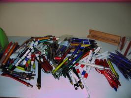 Muster-Kugelschreiber, gesammelte Werke