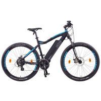 NCM Moscow 48V 27,5'' E-MTB Mountainbike E-Bike 13Ah 624Wh Akku, schwarz blau