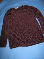 """*NEU* Apart, chices Designer Langarm- Aussbrenner Samt Shirt/ Pullover mit ESPRIT """"success"""" Größe S / 36- 38*"""