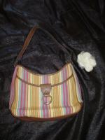 NEU* Ausgefallen * stylisch * Streifen * Hand- Umhänge- Tasche * Bag ''Etienne Aigner'' Original , pastell *