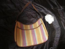 Foto 3 NEU* Ausgefallen * stylisch * Streifen * Hand- Umhänge- Tasche * Bag ''Etienne Aigner'' Original , pastell *