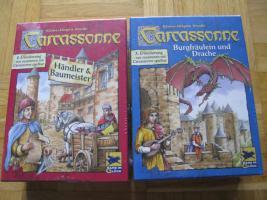 NEU Carcassonne - 2. (Händler & Baumeister) + 3. (Burgfräulein& Drache) Erweiterung