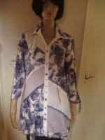 Foto 3 NEU mit ETIKETTEN * Rosen Romantik- Style * Piraten Look * Crinkel * Long * Hemd- Bluse * Tunika ''BIBA by ESCADA'' Gr. 38- 40, 42/ S- M * lila- flieder * weiss