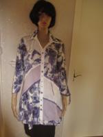 Foto 4 NEU mit ETIKETTEN * Rosen Romantik- Style * Piraten Look * Crinkel * Long * Hemd- Bluse * Tunika ''BIBA by ESCADA'' Gr. 38- 40, 42/ S- M * lila- flieder * weiss