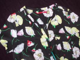 Foto 3 NEU mit ETIKETT * Blumen * Blüten * Flower- Power * Jumpsuit * Einteiler * Overall ''S.Oliver'' Gr. 36- 38/ S * schwarz * weiss * gelb * grün * rot *