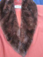 Foto 2 NEU mit ETIKETT * Edel * Anzug * Kostüm * Business * Schurwolle * BLAZER mit Fake Fur * Schal * Pelz-Kragen ''BIBA by ESCADA'' Original * Gr. 40/ M * terra * dunkel- braun *