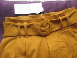 Foto 3 NEU mit ETIKETT * Edel * Business * Freizeit * Anzug * High Waist * Paper Bag * Hose 'mit Gürtel ''ZARA * trf'' Gr. 36/ S * senf- safran- curry- gelb *