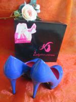 Foto 3 NEU OVP im Karton* Lack- Leder * High- Heels * Stilettos * Plateau * Pumps * Schuhe ''Daniela Katzenberger'' Gr. 38/ 5 royal- königs- blau *