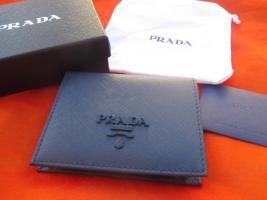 Foto 2 NEU in Original Box mit Zertifikat * Echt Leder * GELDBEUTEL * GELDBÖRSE * PORTEMONNAIE ''PRADA'' Original * marine- dunkel- blau *