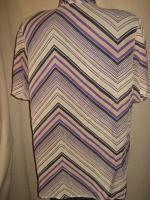 NEU* Seidige * Vintage * Crinkel * Hemd- Bluse * Missioni- Style ''Bonita'' Gr. 40- 42/ M, nude- lila *