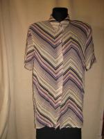 Foto 2 NEU* Seidige * Vintage * Crinkel * Hemd- Bluse * Missioni- Style ''Bonita'' Gr. 40- 42/ M, nude- lila *