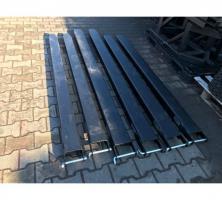 Foto 2 NEU Verlängerungen für Gabelstapler 130x60 mm Länge 2.0m Gabelverlängerung