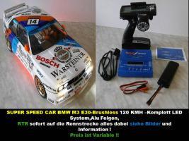 NEUER-ELEKTRO BRUSHLESS SUPER SPEED CAR 1/10er RTR 120 KMH 4WD ,2,4GHz Fernst. Lipo Akku, Lipo Lader