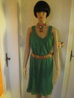 Foto 2 NEU * 20er Jahre Style * Pliseè- Falten * Lurex Glitzer * Cocktail * Abend * Etui- Kleid ''ESPRIT'' Gr. 40- 42/ M * smaragd- grün * gold *