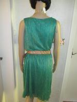 Foto 4 NEU * 20er Jahre Style * Pliseè- Falten * Lurex Glitzer * Cocktail * Abend * Etui- Kleid ''ESPRIT'' Gr. 40- 42/ M * smaragd- grün * gold *