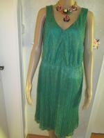 Foto 5 NEU * 20er Jahre Style * Pliseè- Falten * Lurex Glitzer * Cocktail * Abend * Etui- Kleid ''ESPRIT'' Gr. 40- 42/ M * smaragd- grün * gold *