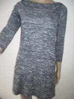 NEU * 60er Jahre Style * A-Linie * Melange- Streifen * Feinstrick Optik * Mini * Kleid ''Hollister'' Gr. 36- 38/ S * tinten- marine- dunkel- blau * weiss *