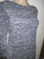 Foto 3 NEU * 60er Jahre Style * A-Linie * Melange- Streifen * Feinstrick Optik * Mini * Kleid ''Hollister'' Gr. 36- 38/ S * tinten- marine- dunkel- blau * weiss *