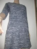 Foto 4 NEU * 60er Jahre Style * A-Linie * Melange- Streifen * Feinstrick Optik * Mini * Kleid ''Hollister'' Gr. 36- 38/ S * tinten- marine- dunkel- blau * weiss *