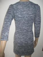 Foto 6 NEU * 60er Jahre Style * A-Linie * Melange- Streifen * Feinstrick Optik * Mini * Kleid ''Hollister'' Gr. 36- 38/ S * tinten- marine- dunkel- blau * weiss *