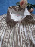 Foto 3 NEU * Ausgefallen * Business * Freizeit * Knitter * Crinkel * Streifen * Hemd- Bluse ''S. Oliver'' Gr. 38- 40/ S- M * khaki- grün- weiss *