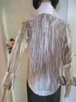 Foto 5 NEU * Ausgefallen * Business * Freizeit * Knitter * Crinkel * Streifen * Hemd- Bluse ''S. Oliver'' Gr. 38- 40/ S- M * khaki- grün- weiss *