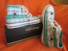 Foto 2 NEU * Ausgefallen * stylisch * Karo * Chucks Stoff- Schuhe Sneaker ''Converse All Star'' Gr. 39/ 6 * grün * RAR