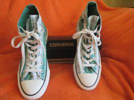 Foto 3 NEU * Ausgefallen * stylisch * Karo * Chucks Stoff- Schuhe Sneaker ''Converse All Star'' Gr. 39/ 6 * grün * RAR
