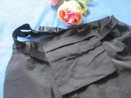 Foto 3 NEU * DESIGNER * Cargo * Long * langer * Maxi * Rock mit Gürtel Tasche 'Spontan!' Gr. 34- 36/ XS- S * schwarz * Gothic *