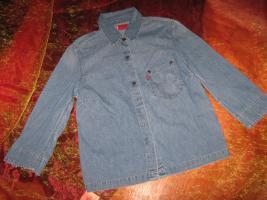 NEU * Damen * DESIGNER * Jeans * Hemd- Bluse Dreiviertel Arm ''LEVI'S®'' Original * Gr. 34- 36 XS- S * hell- blau *