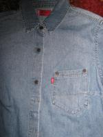 Foto 2 NEU * Damen * DESIGNER * Jeans * Hemd- Bluse Dreiviertel Arm ''LEVI'S®'' Original * Gr. 34- 36 XS- S * hell- blau *