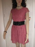 NEU * Edel * Ausgeh * Abend * Cocktail * Lace Spitzen * Mini Kleid ''H&M'' Gr. 36- 38/ S * rosenholz *